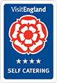Awarded Visit England 4-star for Self Catering