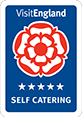 Awarded Visit England 5-star for Self Catering